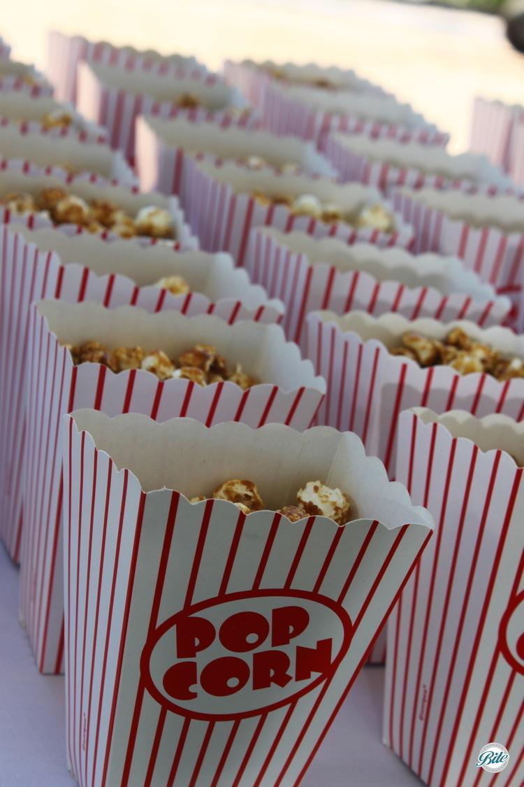 Popcorn in boxes