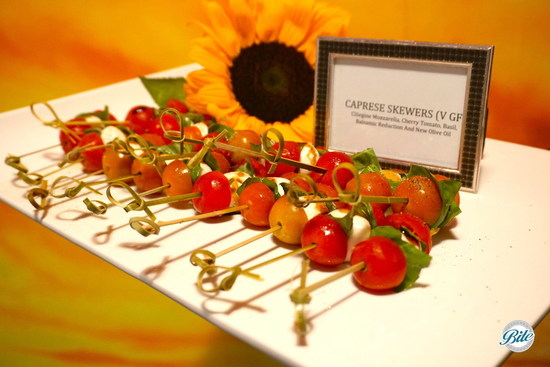 Caprese Skewers with Sunflower