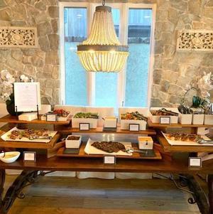 Dinner on Buffet Table