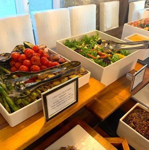 Grilled Vegetable Medley and Seasonal Salad