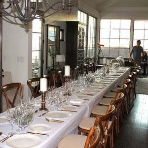 Long Table Set For Dinner