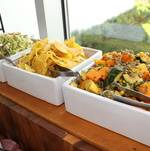 Vegetables and Salads on Buffet