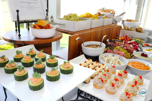 Crab Cucumber Canape Overlooking Display