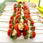 Caprese Salad Skewers Stacked On Display