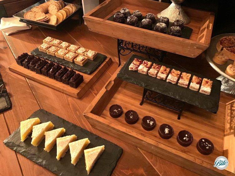 Dessert assortment. Including lemon bars