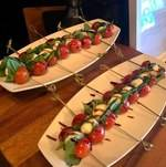 Caprese Skewers on Buffet