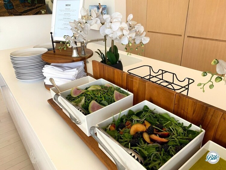 Spring Baby and Best in Season Salads on the buffet