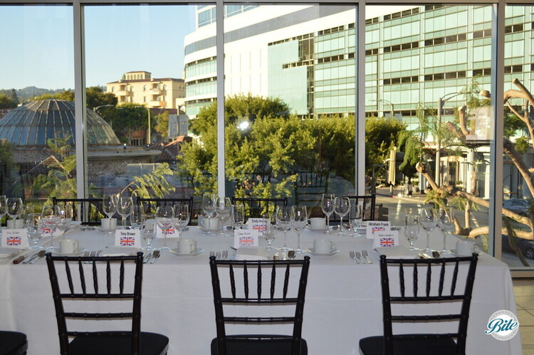 Seated dinner overlooking Westwood Village