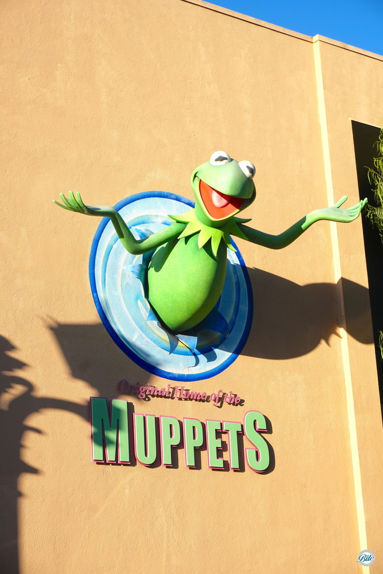 Kermit greets visitors at the original home of the muppets, Jim Hensons Studios