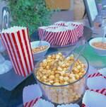 Popcorn Bar Setup with Popcorn and Nuts