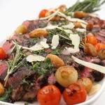 Tuscan Steak with Tomatoes and Onions