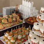 Brunch Buffet - Sandwiches, Boxed Orzo Salad, Mini Egg Souffles, and Granola Parfait