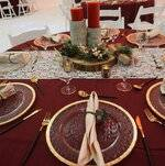 Table Setting with Winter Decor