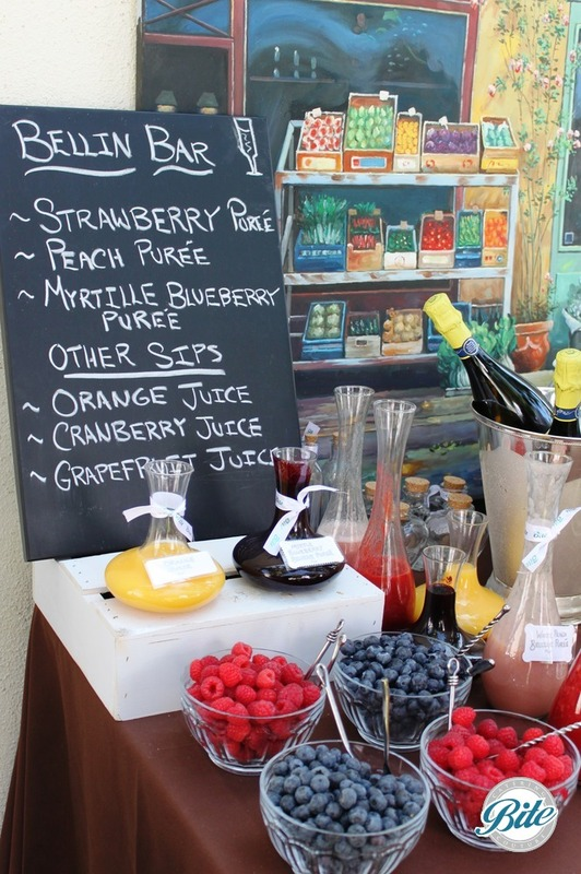 Fun Bellini Bar station with fresh berries and juices
