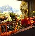 Buffet Setup by Mountain Goat Exhibit