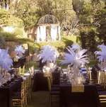 Tables Set up in the Garden