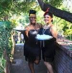Servers in Flapper Dresses
