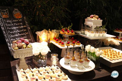 Dessert Table with Chalk Menu