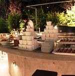Backyard Appetizer Display on Bar