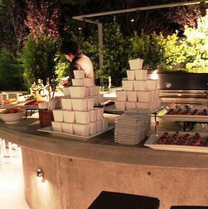 Backyard Appetizer Display on Bar