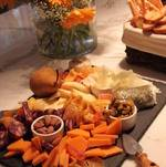 Cheese Display with Dried Fruit and Nuts