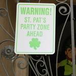 St Patrick's Party Sign
