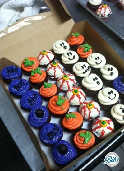 Assorted Halloween Cupcakes #Halloween