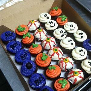 Assorted Halloween Cupcakes #Halloween