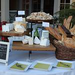 Artisan Cheese and Bread Display