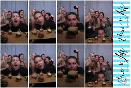 Burgers in the Photo Booth @ Wedding