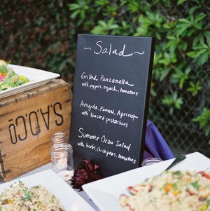 Rustic Salad Display @ Wedding