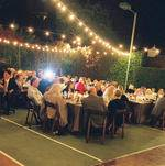 Wedding Dinner under Lights