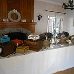 Vintage Buffet Chafing Dishes @ Orcutt Ranch Wedding