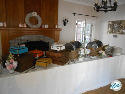 Vintage Buffet Chafing Dishes Orcutt Ranch Wedding