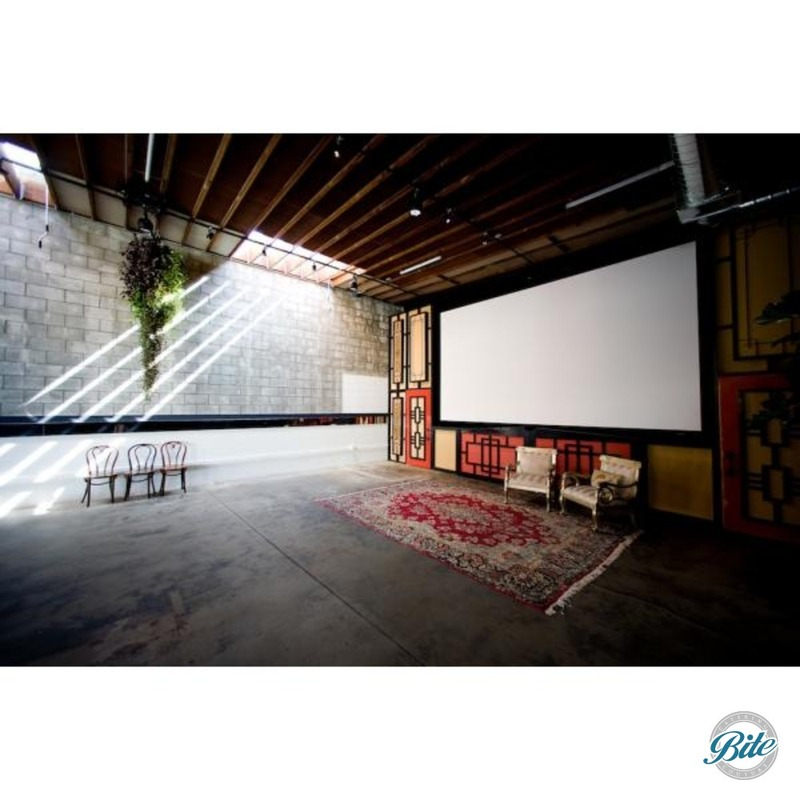 The cinema room is the other side of the Grand Hall.  A large screen allows for a great space for showing films or video.