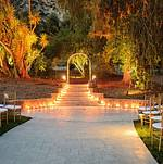 Wedding Altar @ Twilight at Newhall Mansion
