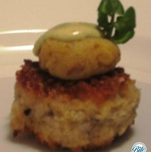 Creole Crabcake with Honey Mustard Remoulade