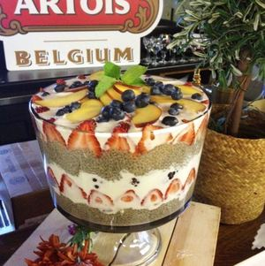 Breakfast Trifle on seasonal brunch display