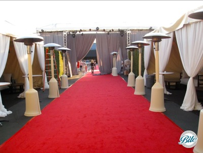 Red Carpet outside Hangar 8