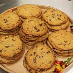 Giant Chocolate Chip Cookies from Platters Dessert Menu
