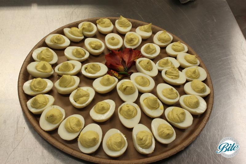 Deviled eggs on to - go platter