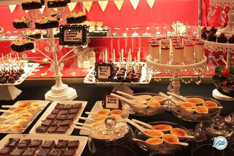 Promotion with Kat von D, including creme brulee spoons, strawberry shortcake, chocolate brownie espresso bars