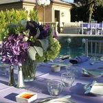 Outdoor Table Setting by Pool