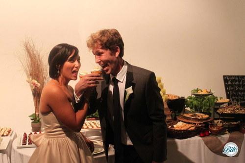 Cupcake Toast - First Bite @ Wedding
