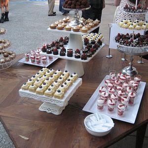 Dessert Assortment on Wooden Table