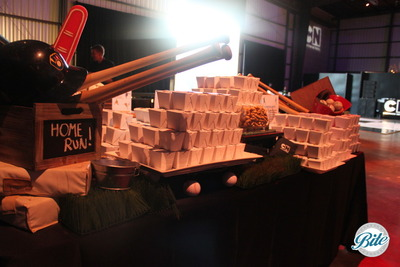 Noodle Salad Boxes on Sports Display @ Hall of Games Awards