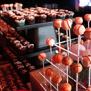 Baseball Cheesecake Pops @ Hangar8