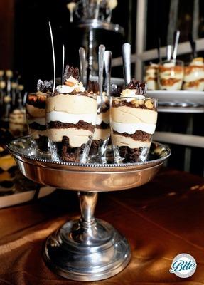 Dessert shots on multi-level display