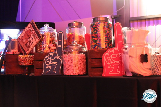 Sports Themed Candy Bar Display