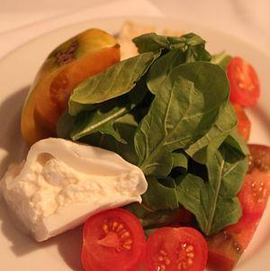 Plated Heirloom Tomato Salad